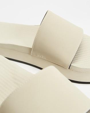 Indosole PLATFORM Slides - Sandals (Sea Salt)