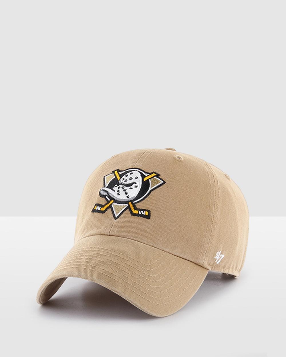47 Anaheim Ducks 47 Clean Up Hats Khaki