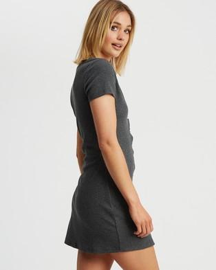 Calli - Norah Mini Dress - Bodycon Dresses (Charcoal) Norah Mini Dress