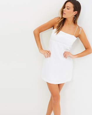 MLM – Amber Tie Mini – Dresses (White Linen)