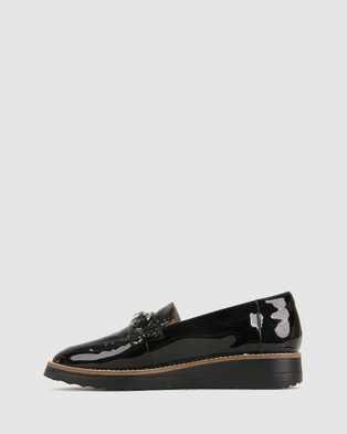 Airflex Desire Leather Loafers - Flats (Black Pat)