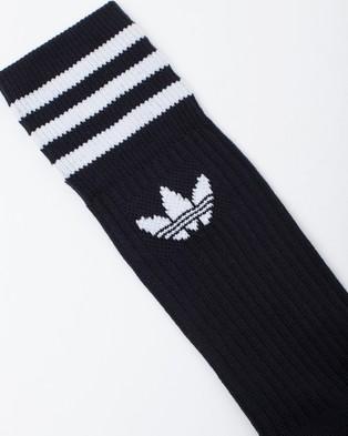 adidas Originals Solid Crew Socks 3 Pack - Underwear & Socks (Black & White)