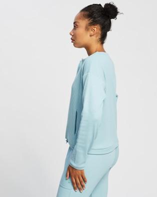 ASICS Soft Stretch Sweat Top   Women's - Short Sleeve T-Shirts (Smoke Blue)