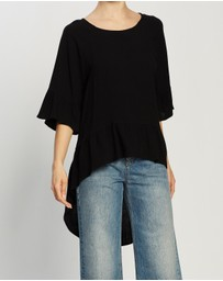 Atmos&Here - Tobby Linen Ruffle Blouse