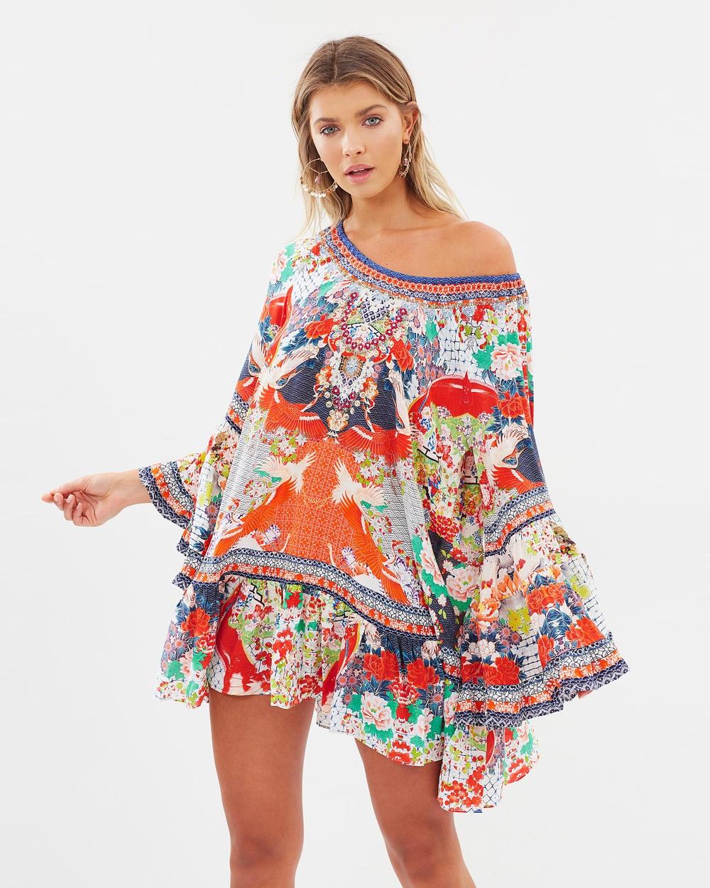 Camilla A Line Frill Dress Printed Dresses Geisha Girl A-Line Frill Dress