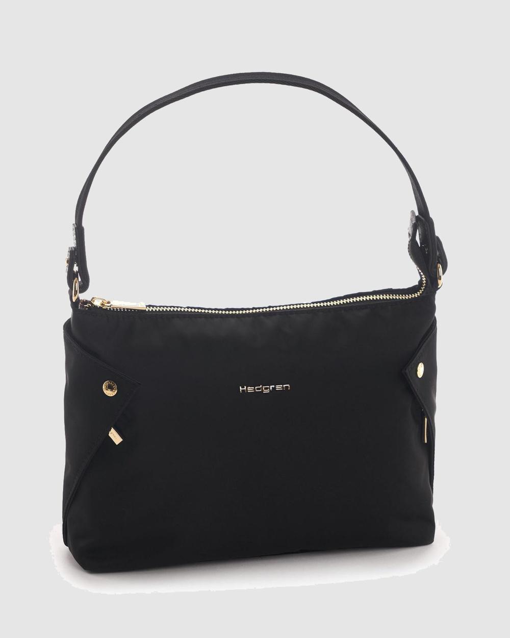 Hedgren Reflect Mini Hobo Handbags Black Australia