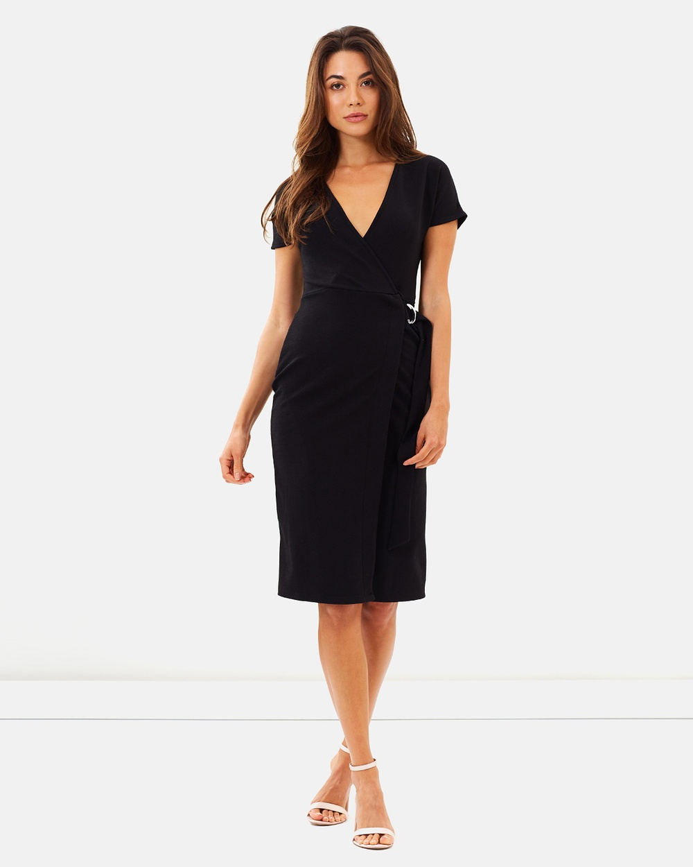 Dorothy Perkins D Ring Wrap Dress Dresses Black D-Ring Wrap Dress