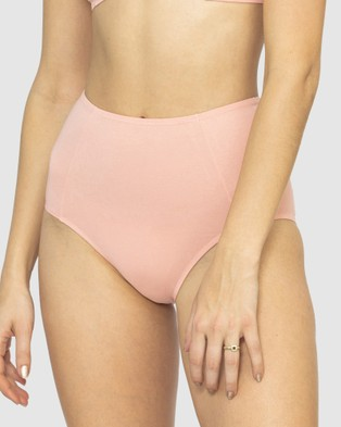 NICO Plant Dyed Organic Cotton High Waisted Briefs - Briefs (Rose)
