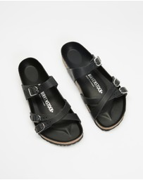 Birkenstock - Franca Black Oiled Leather Regular - Women's