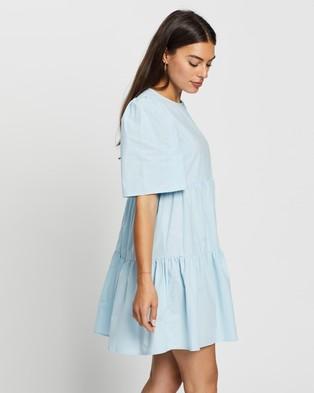 Atmos&Here Amora Cotton Mini Dress - Dresses (Blue)