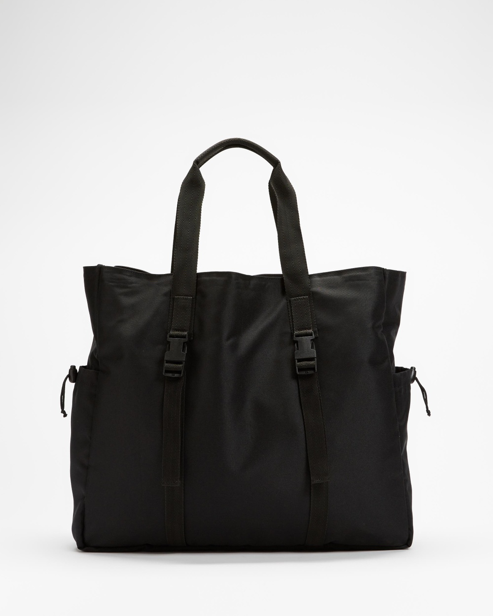AERE Recycled Polyester Tote Bags Black