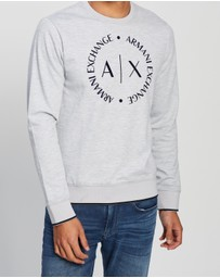 Armani Exchange - Flocked Logo Sweatshirt