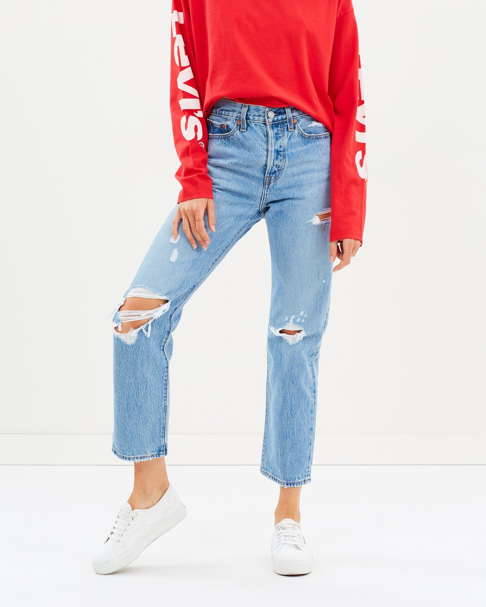 81fe9838 Wedgie Straight Jeans by Levi's Online | THE ICONIC | Australia