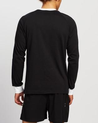 adidas Originals 3 Stripes LS T Shirt - T-Shirts & Singlets (Black)