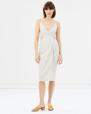 Third Form – The Catch Linen Wrap Dress beige