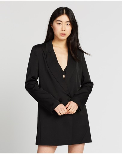 By Johnny. Loose Line Blazer Dress Black