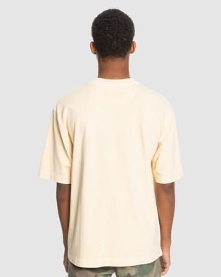Quiksilver Mens General Echo Organic T Shirt - T-Shirts & Singlets (Antique White)
