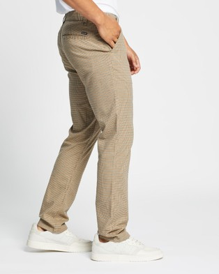 Brixton Choice Chino Pants - Pants (Vanilla Houndstooth)