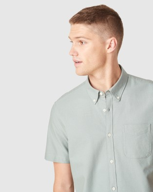 French Connection Oxford Slim Fit Shirt - Casual shirts (SAGE)