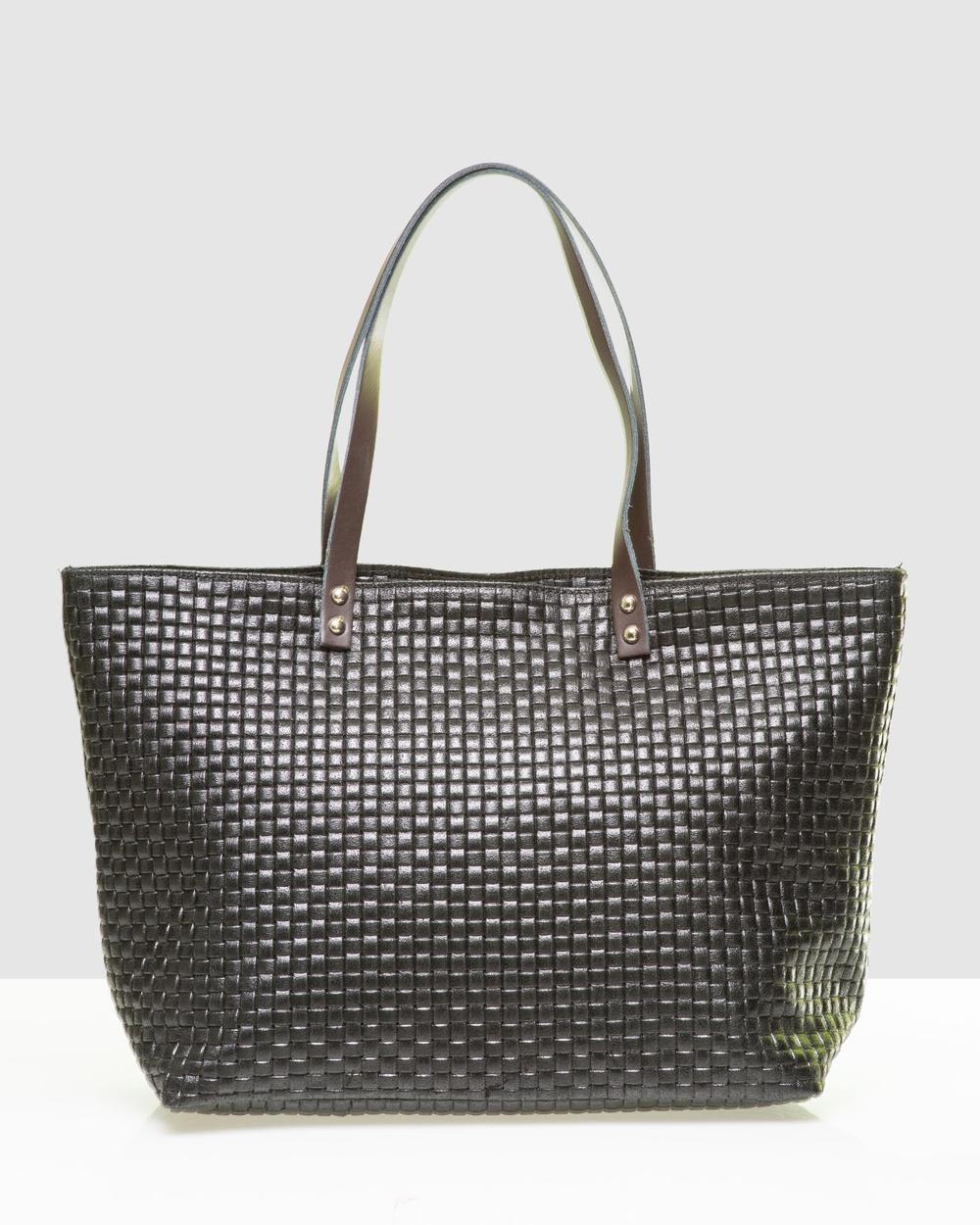 Marlafiji Valerie Shopper Bags Black Leather bags Australia
