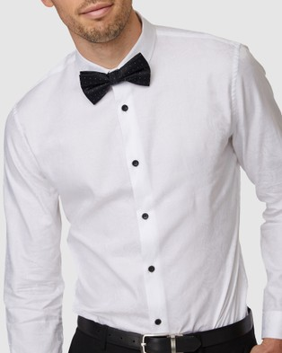Jack London Jacquard Formal Shirt - Shirts & Polos (White)