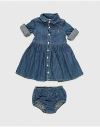 Polo Ralph Lauren - Denim Shirt Dress And Bloomers Set - Babies