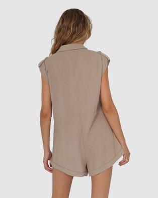 Lost in Lunar  Kai Playsuit - Jumpsuits & Playsuits (Stone)