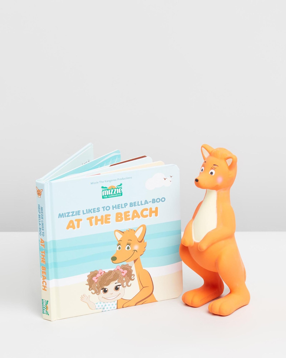 Mizzie The Kangaroo Baby Board Book Gift Set with Teething Toy All toys At Beach All toys Australia