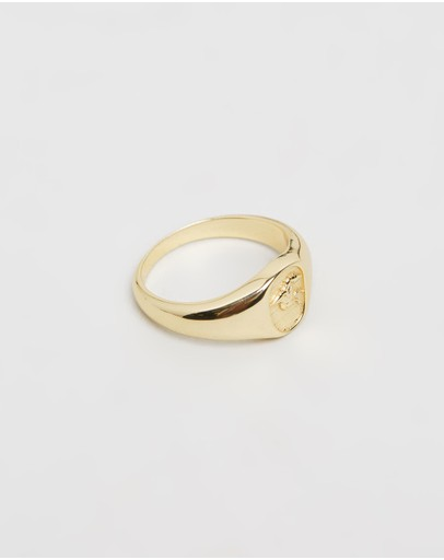 Serge Denimes Pegasus Signet Ring Gold
