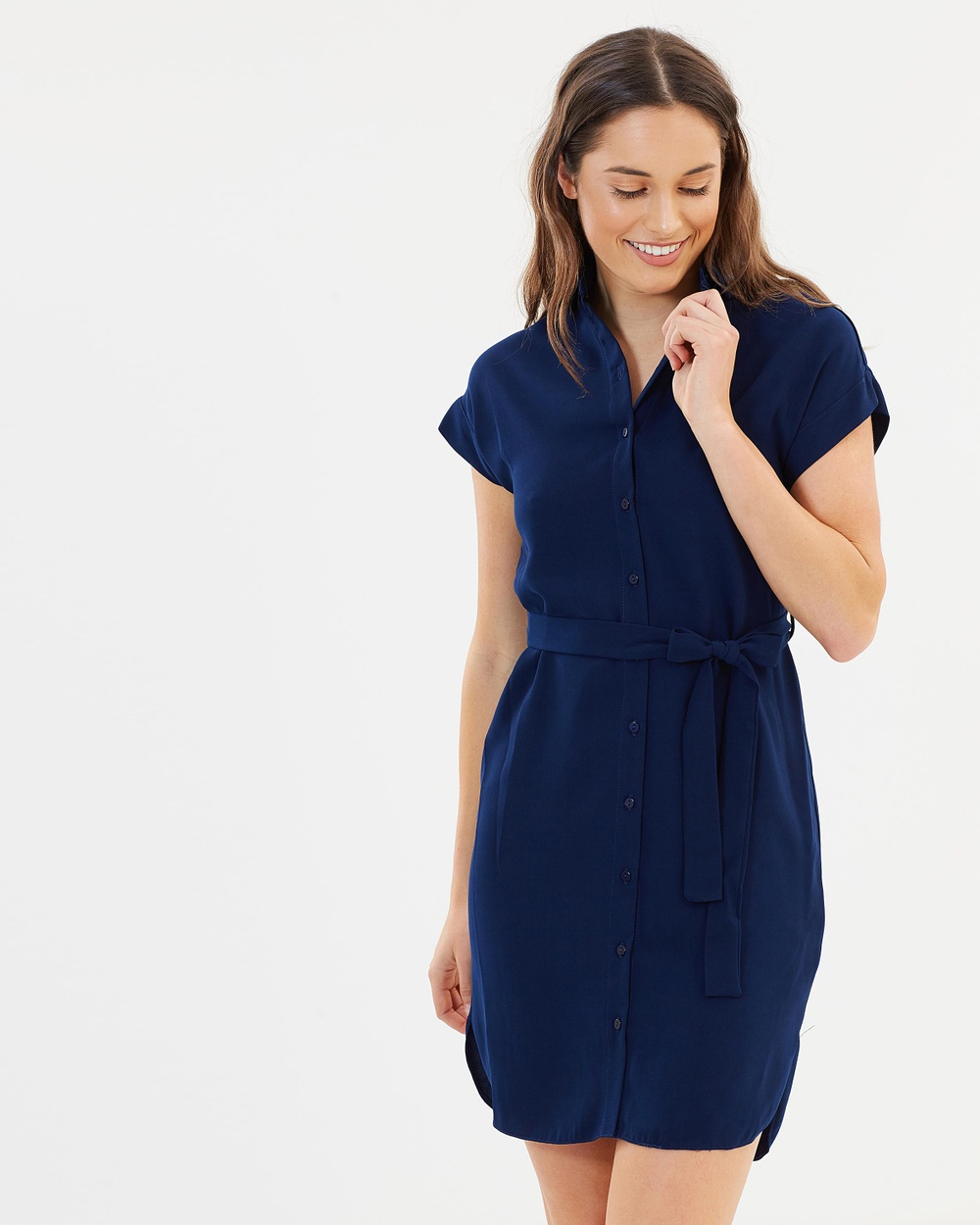 Dorothy Perkins Shirt Dress Dresses Navy Blue Shirt Dress