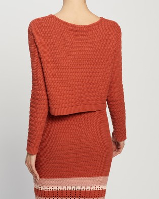 Atmos&Here Koko Cotton Knit Top - Jumpers & Cardigans (Rust)