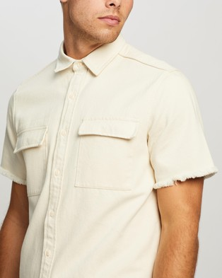 Commune Cotton Twill Shirt - Casual shirts (Off White)