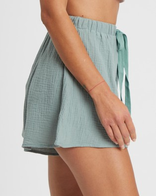 The Fated Luna Shorts - High-Waisted (Sage Green)