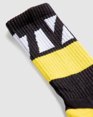 The WOD Life Everyday Core Socks - Underwear & Socks (BLACK/YELLOW/WHITE)