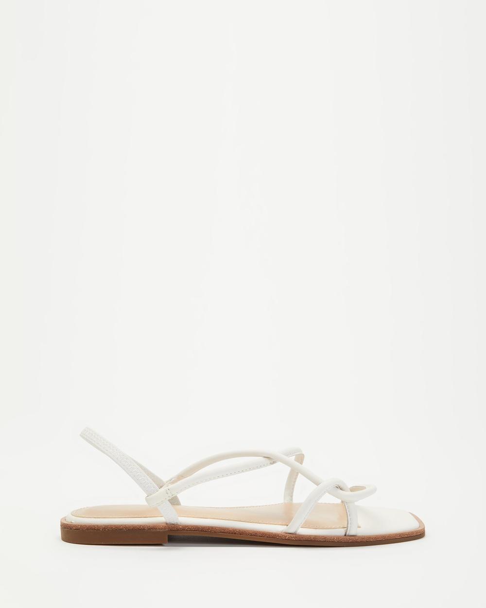 ALDO Toosieflex Strappy Sandals White