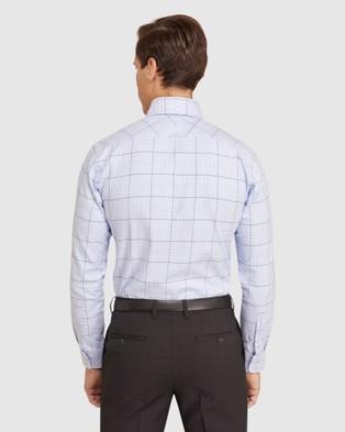 Oxford Trafalgar Checked Shirt - Shirts & Polos (Blue)