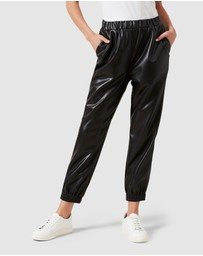 French Connection - Faux Leather Joggers