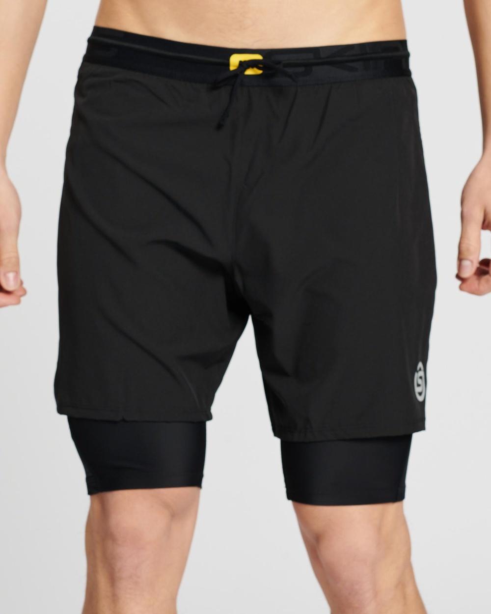 Skins 3 Series Men's Superpose Half Tights Compression Black 3-Series