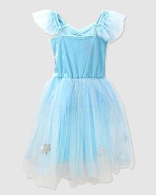 Pink Poppy Snow Princess Snowflake Dress - Dresses (Blue)