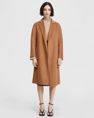 ARIS Double Face Belted Coat - Coats & Jackets (Brown)