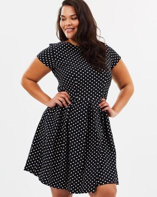 Closet London Curves – Pleated Skirt Dress Multi