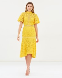 Utopia Lace Midi Dress