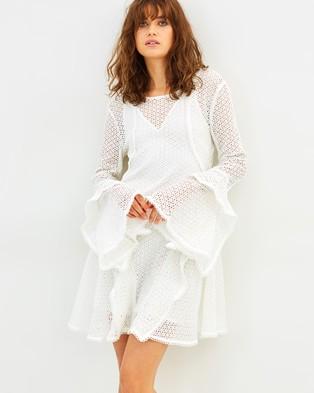 C/MEO COLLECTIVE – Aspire Mini Dress Ivory