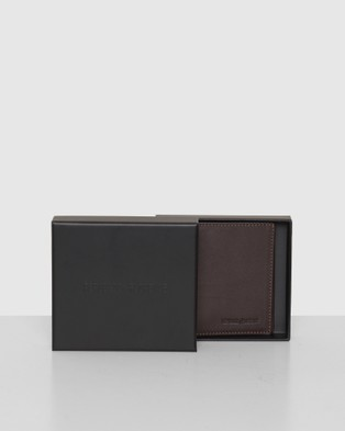 Republic of Florence Verdi Vertical Bi Fold Soft Leather Wallet - Wallets (Chocolate)