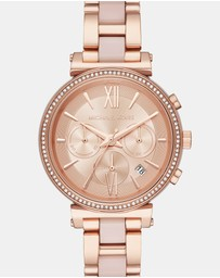 Michael Kors - Sofie Rose Gold-Tone Chronograph Watch