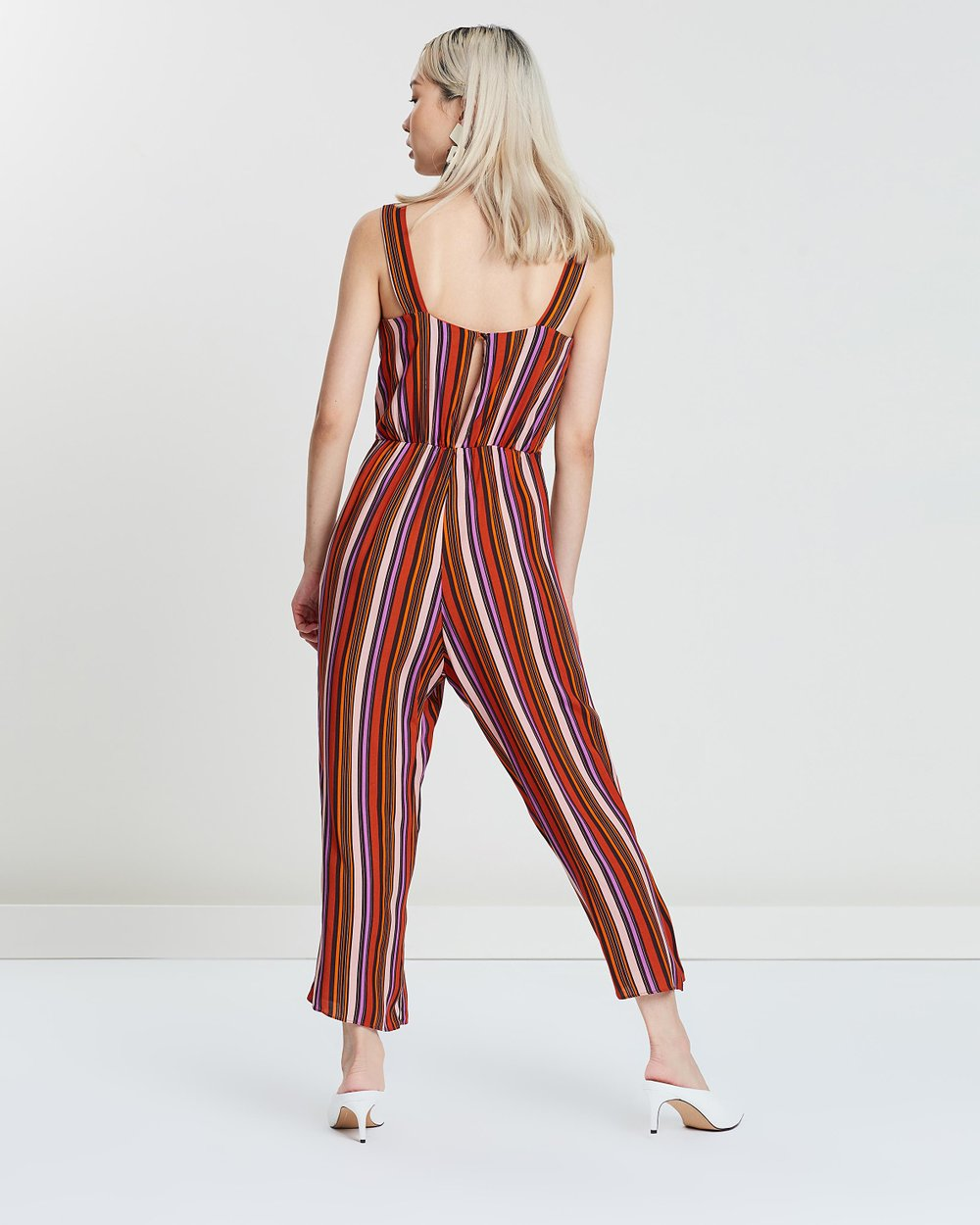 Striped Pinny Jumpsuit By Miss Selfridge Online The Iconic Australia Overall Stripe
