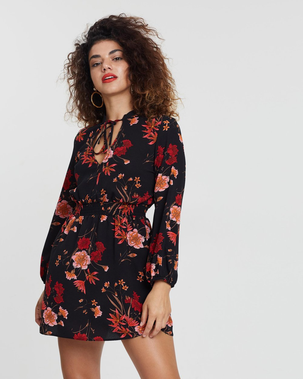 c6ec06ec2aac Floral Shirred Skater Dress by Miss Selfridge Petite Online | THE ICONIC |  Australia