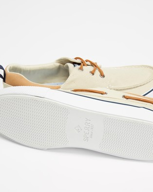 Sperry Bahama 3 Eye SW Canvas   Men's - Casual Shoes (Off White)