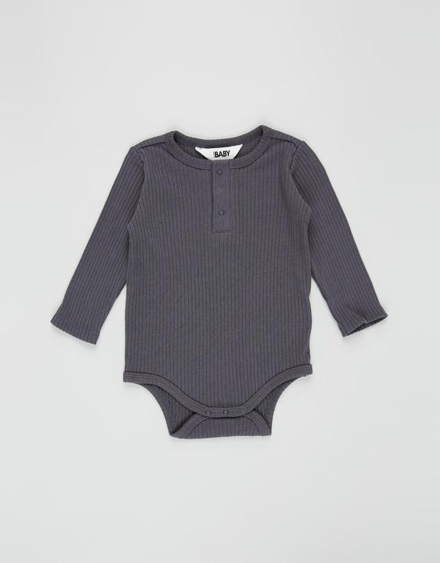 Kids LS Button Bubbysuit - Babies