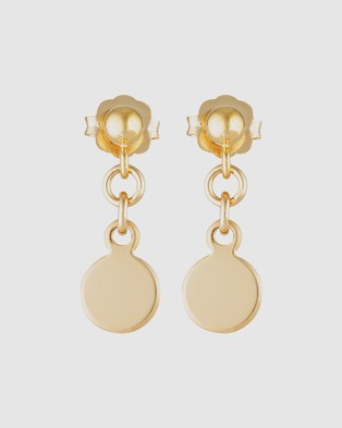 Elvis et Moi Mini Stud Disc - Jewellery (Gold)